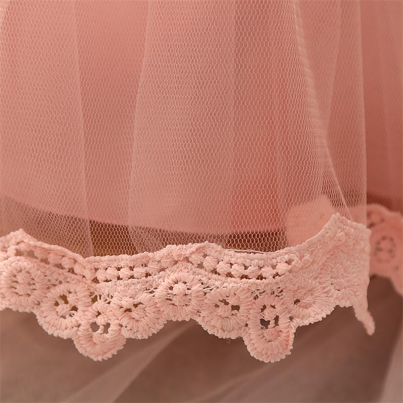 Autumn Winter Baby Girl Dress Long Sleeve Tulle Lace Princess 1st