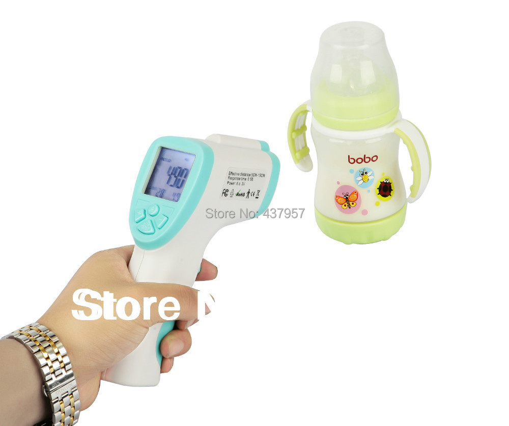 Lcd Non Contact Ir Laser Temperature Gun Infrared Digital Baby Kids Power Monitor Body Forehead Thermometer Termometer Babylis Termometro In Thermometers From Beauty
