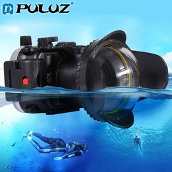 PULUZ 40m Underwater Depth Diving Case For Sony A7 A6300 A6000 Canon G7 X Mark II Panasonic Waterproof Dome For GoPro