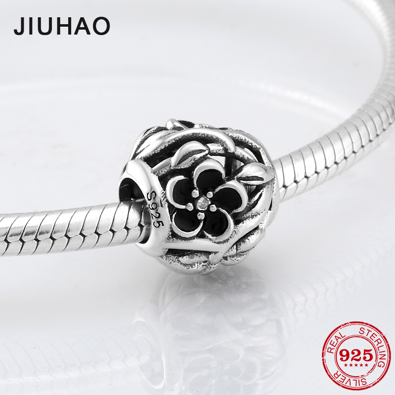 Fashion womens accessories charm flower Hollow beads 925 sterling silver Fit Original Pandora Charms Bracelet Jewelry making