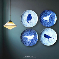 Jingdezhen Blue & White Porcelain Plate Ceramic Dish Hanging Wall Decorative Plate
