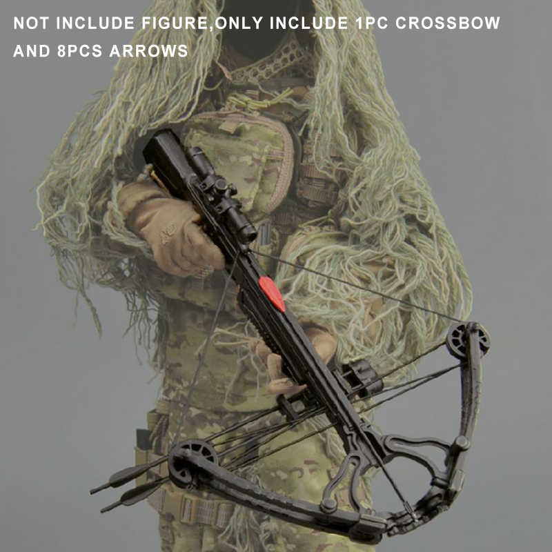 ZYTOYS 15-24 1/6 Scale accessories Crossbow /set 8PCS Sideshow Arrows For Crossbows orDaryl Walking Dead Weapon Model Equipment