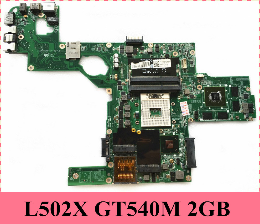 US $91 2 5% OFF|Reboto CN 0714WC 0714WC 714WC For DELL XPS L502X Laptop  Motherboard GT540 2GB DAGM6CMB8D0 HM67 100% Tested Fast Ship-in  Motherboards