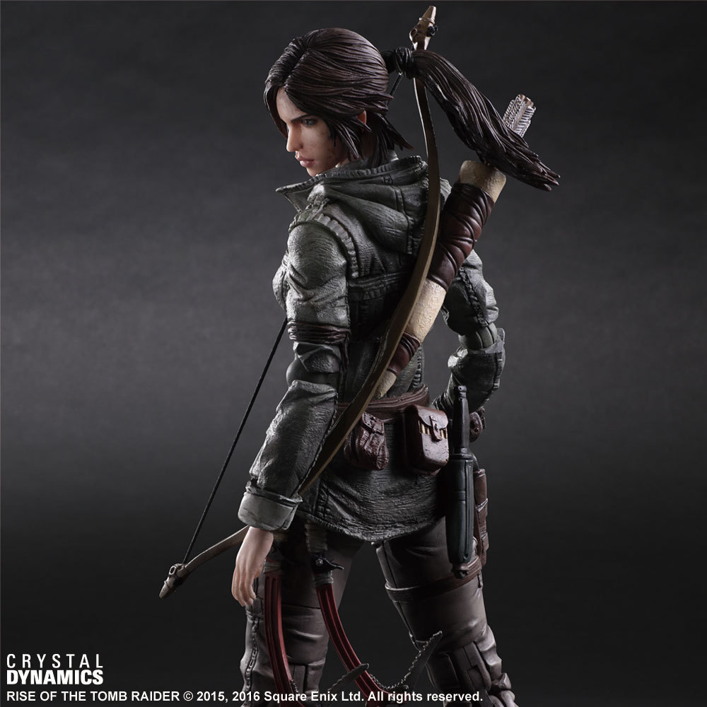 new game Rise of The TOMB RAIDER Lara Croft PA Play Arts KAI with Bow gun sexy PVC action figures black hair lara Brave toys r12 sexy game