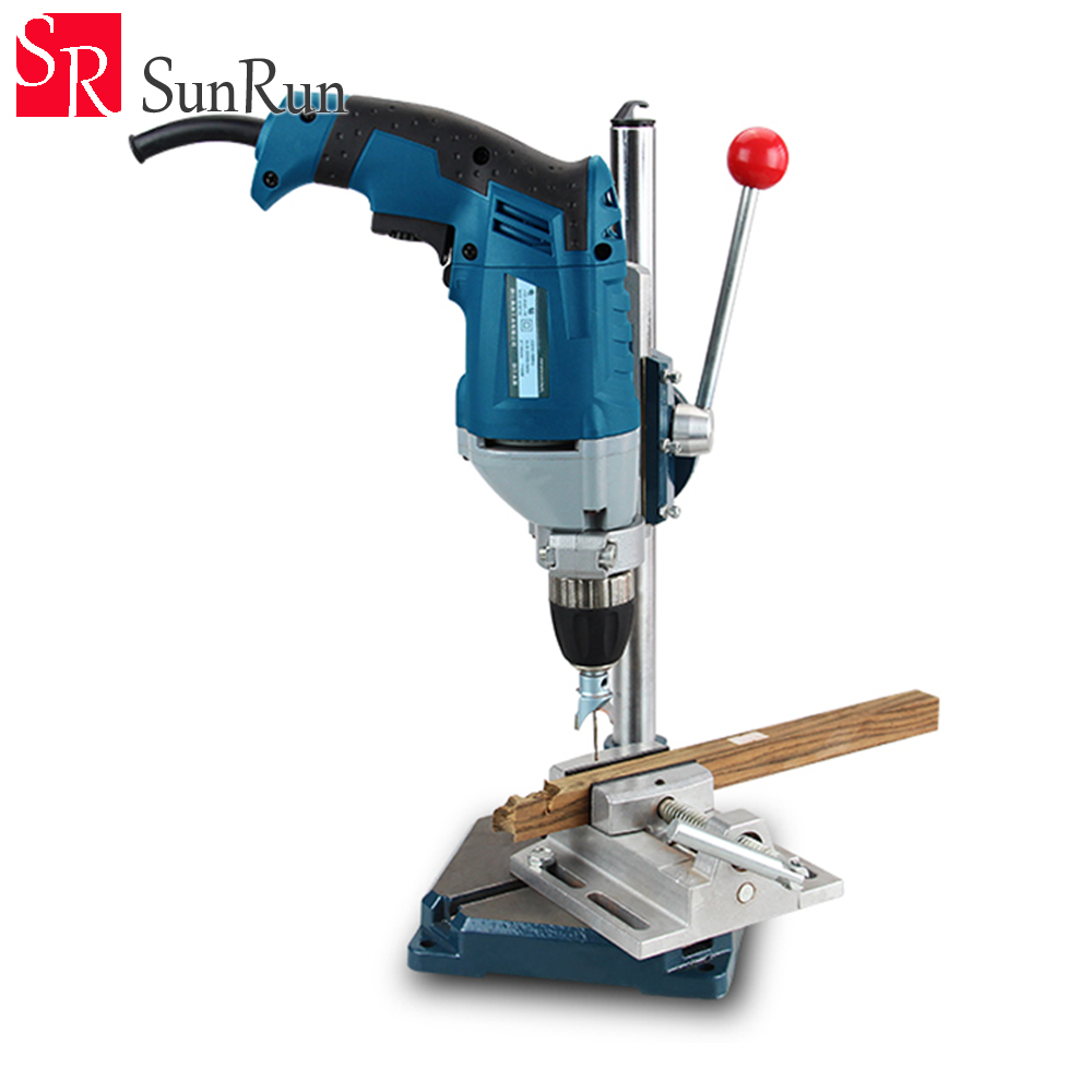 Cast iron base drill electric drill rack universal bracket miniature bench drill drill bracket clamp tool