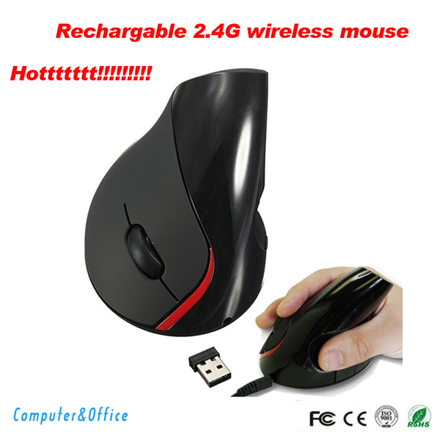 Rechargebale 2.4G 10M Wireless Ergonomic Design Mouse