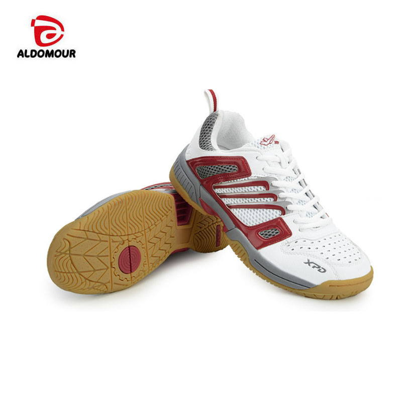 ALDOMOUR Sneakers Stability Anti-slip Volleyball Shoes Breathable Table Tennis Shoes Tennis Shoes Volleyball Shoes Red or Blue aldomour breathable volleyball shoes sneakers stability anti slip ping pong shoes breathable table tennis shoes volleyball shoes