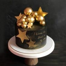 Décoration de gâteau de mariage, ballon or/argent, décoration de gâteau à faire soi même, pour anniversaire, décoration de gâteau