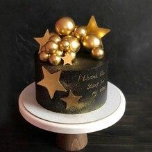 DIY Schaum Gold/Silber Ballon Kuchen Topper Glücklich Geburtstag Cupcake TOP Flagge Hochzeit Party Kuchen Deorat Baby Geburtstag Dekorationen