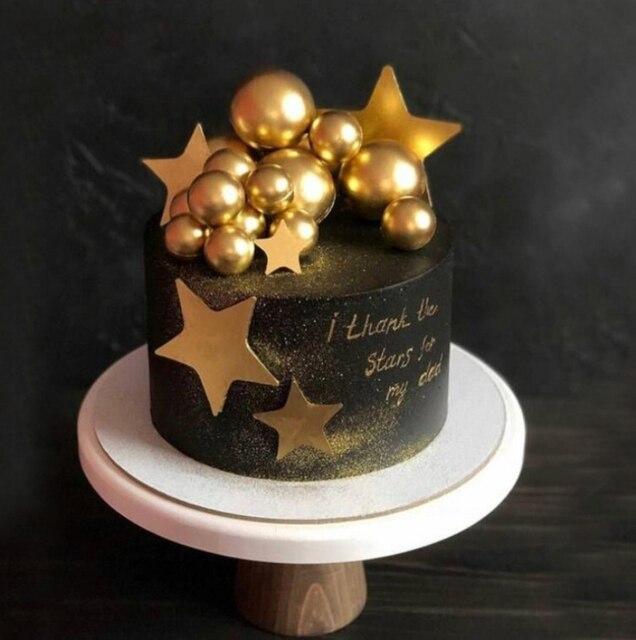 Diy の泡のゴールド/シルバーバルーンケーキトッパーハッピーバースデーカップケーキトップ旗ウェディングパーティーケーキ Deorat ベビー誕生日の装飾