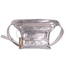 Pouch Waist-Bag Fanny Cintura-Belt Female Fashion Women Silver Bling Casual PU Bolsa