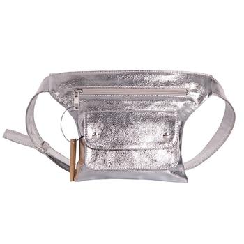 2018 vintage waist bags women designer fanny pack fashion belt bag female mini waist pack luxury pu leather bag 2pcs bolsa Fashion Women Bling Leather Waist Pack Silver Mochila Cintura Belt Waist Bag Female Pouch PU Casual Fanny pack Bag Bolsa