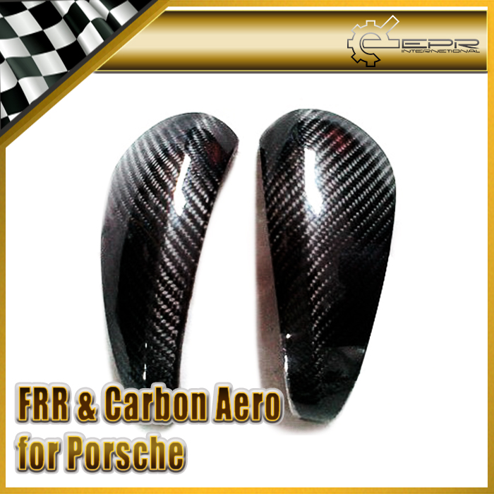 EPR Car Styling Glossy Carbon Fiber Side Mirror Cover Fit For Porsche Boxster 987 Cayman S In Stock