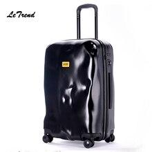 Letrend New Fashion Italian Originality Damage Rolling Luggage Women Trolley 20 inch Boarding Box Suitcases Travel Bag Trunk