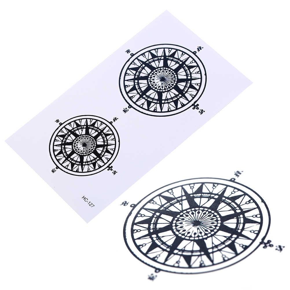 Символ черная вспышка временная татуировка для мужчин и женщин дворецкий контракт компас водонепроницаемый поддельные флеш-тату наклейки