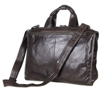 Maxdo High Quality Gray Briefcase Portfolio 14 inch Laptop Bag Real Genuine Leather Men Messenger Bags Handbags #M7243