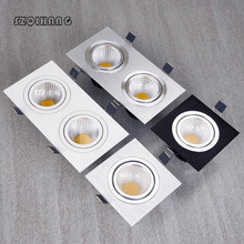 Factory Wholesale 1*10W/2*10W White shell Black Silver Square Hight light COB Led down Recessed