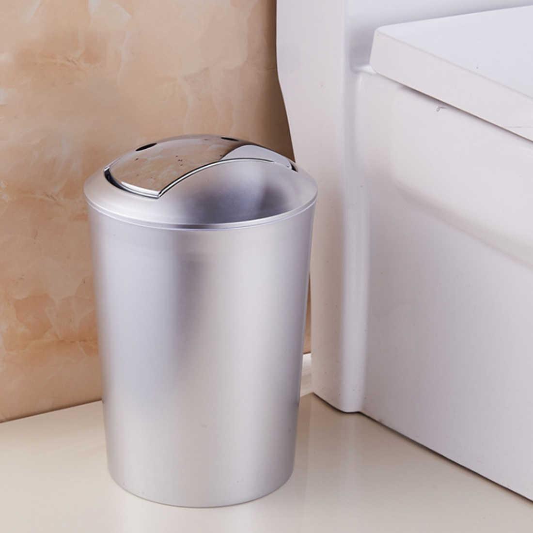... HIPSTEEN 6.5L Thicken Bathroom Garbage European Style Trash Wastebin  With Lid Kitchen Trash Cans Storage ...