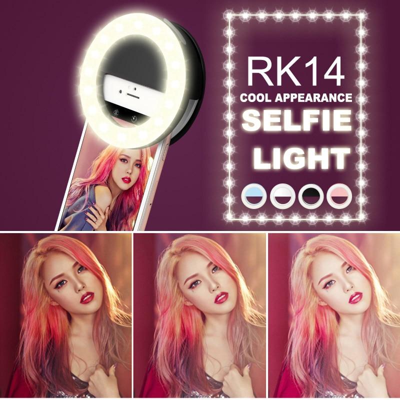Yeni Moda Şarj Edilebilir selfie halka ışık Klip LED selfie flaş - Kamera ve Fotoğraf - Fotoğraf 2