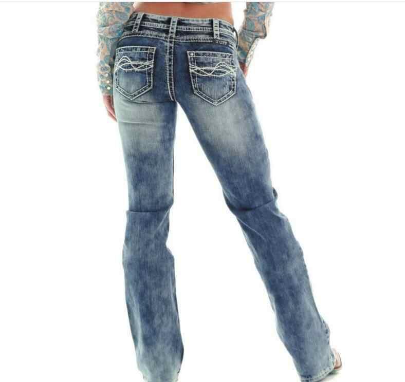 fd0742f91930c5 ... Low Waist Jeans Woman Skinny Jeans Femme Slim Light Blue Denim Straight  Pant Stretch Ladies Lift ...