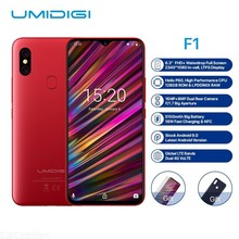 "Get more info on the UMIDIGI F1 Android 9.0 6.3"" FHD+128GB ROM 4GB RAM Helio P60 Smartphone 5150mAh Battery 18W Fast Charge 16MP+8MP Mobile Phones"