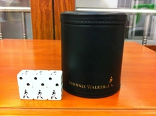 Whisky Johnnie Walker Red Label Screen Cup Dice cup (1piece with 6 JW dice)