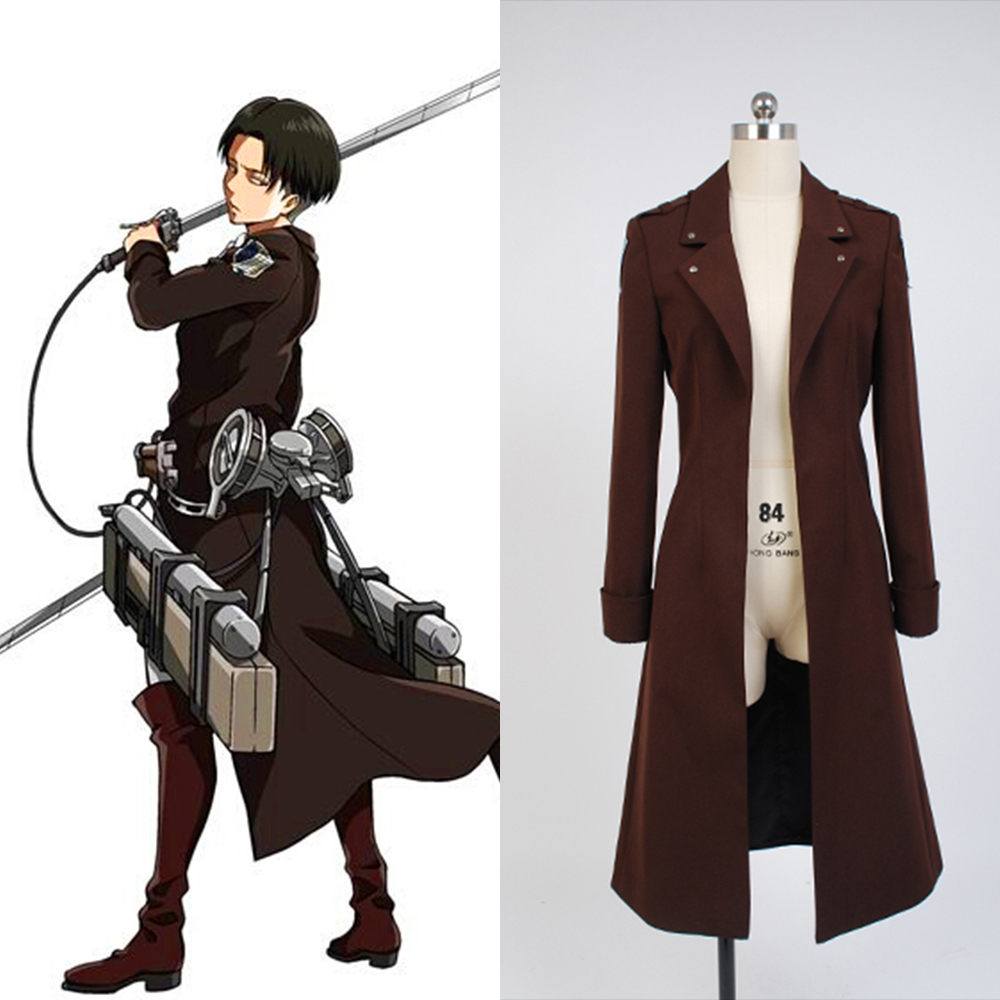Attack on Titan Cosplay Eren Jaeger New Long Coats Only ...