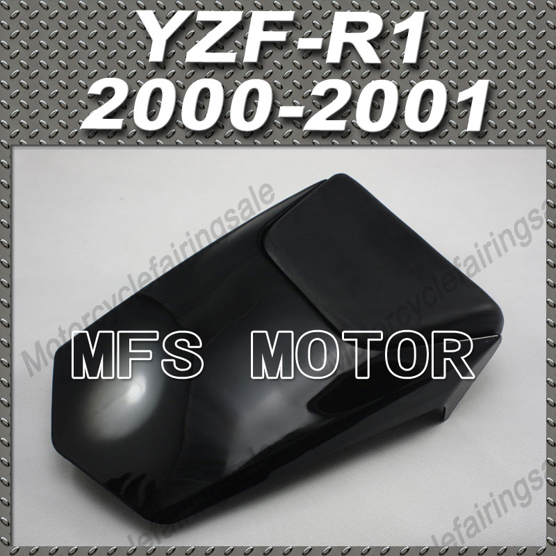 Motorcycle Accessories Rear Pillion Injection ABS Seat Cowl Cover For Yamaha YZF-R1 2000-2001 All Black