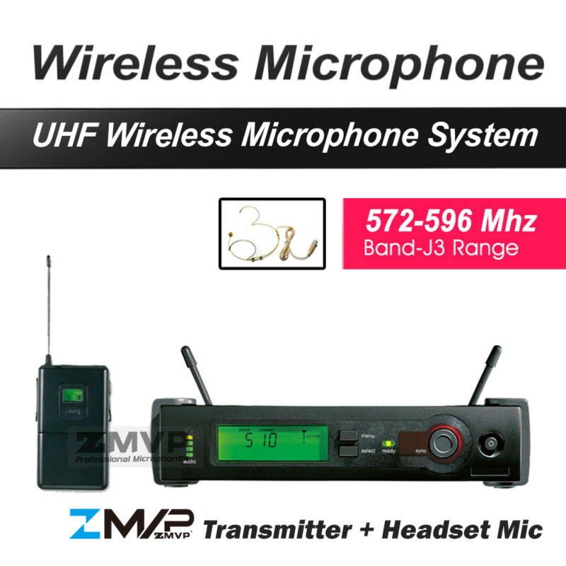 ZMVP UHF Professional SLX14 Wireless Microphone System With SLX Bodypack Transmitter Condenser Headset Mic Band J3 572-596Mhz free shipping uhf professional sx 14 wireless microphone with bodypack transmitter lapel lavalier clip mic band r5 800 820mhz