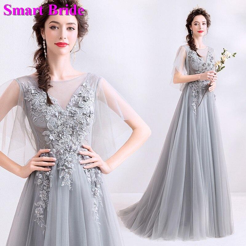 Tulle robes de soirée Vintage dentelle perlée robe de soirée longueur de plancher élégante robe Corset retour en Stock vestidos de noite LY139