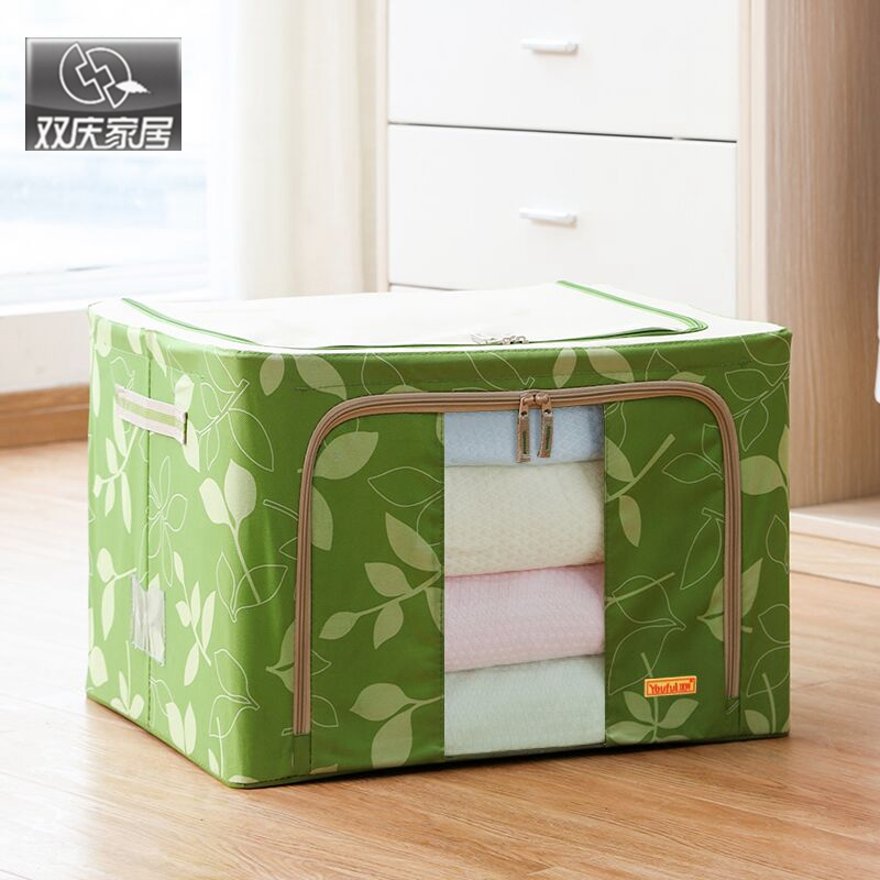 clothing storage box 66 oxford fabric metal frame box oversized ...