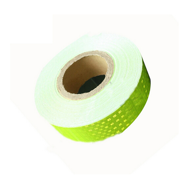 5cm*45M Fluorescence Yellow with Lattice Night Reflective Safety Warning Conspicuity Tape Truck safety tape stickers