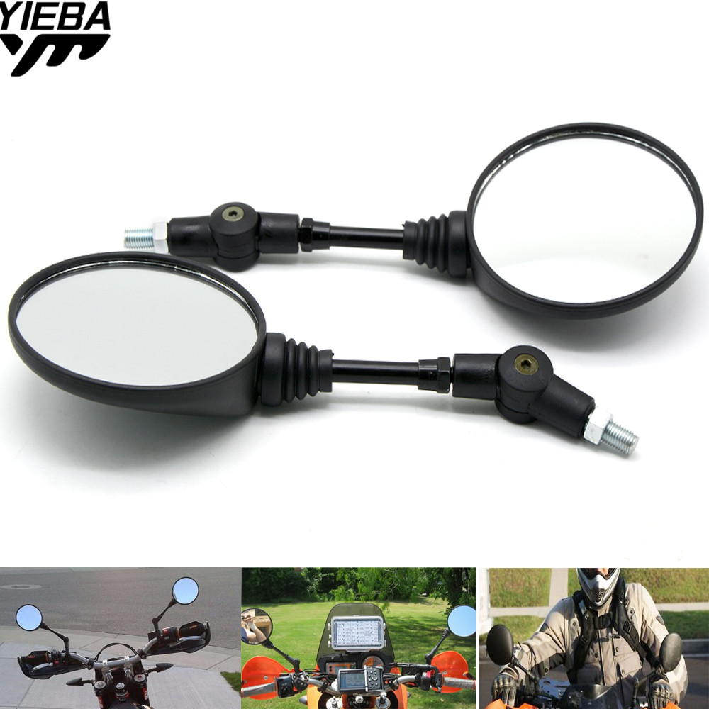 Motorcycle M8 M10 Folding Mirror Side Mirrors Rearview FOR HONDA Super Cub 50 CC110 Cross 110 Shadow RS
