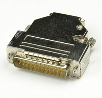 D Sub 25 Pin DB25 Plug Male Solid Pins Module Removable Metal Shell