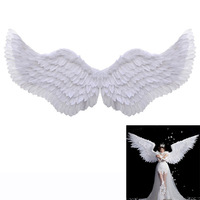 Новый подиум модели для реквизита белый Крылья Ангела из перьев взрослых Размеры для танцев автосалон вечерние держатели для подарков фест