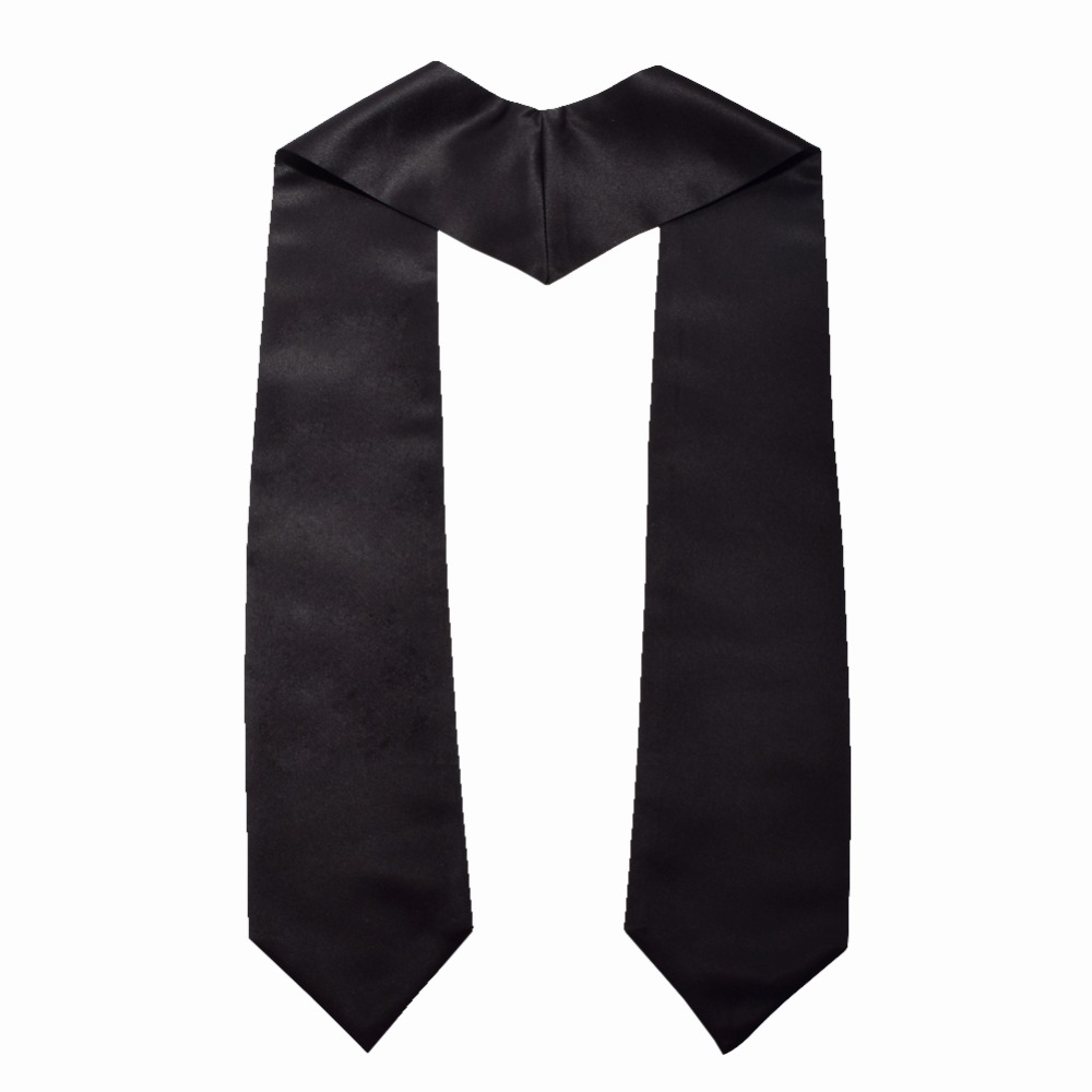 """Image 3 - 1pc Graduation Stole Unisex Adult Plain Students Long Stole 58""""-in Women's Scarves from Apparel Accessories"""
