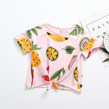Baby girl t-shirt casual fruit print cute fresh children's top clothes for
