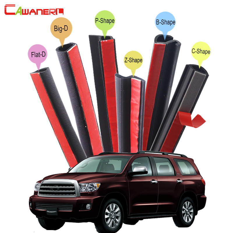 Cawanerl Whole Car Sealing Strip Kit Rubber Seal Edge Trim Weatherstrip For Toyota 4Runner FJ Cruiser Fortuner Sequoia Venza