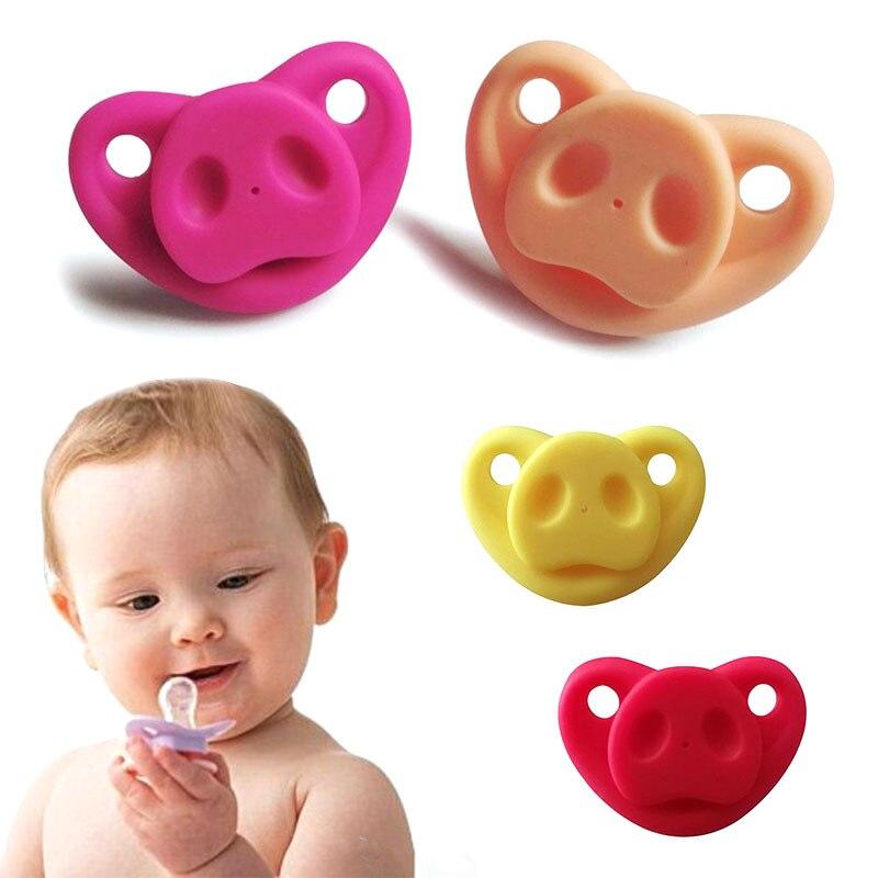 Младенческая Соска-пустышка креативный Мягкий Силиконовый грызунок Свинья Нос подарки шутка малыш
