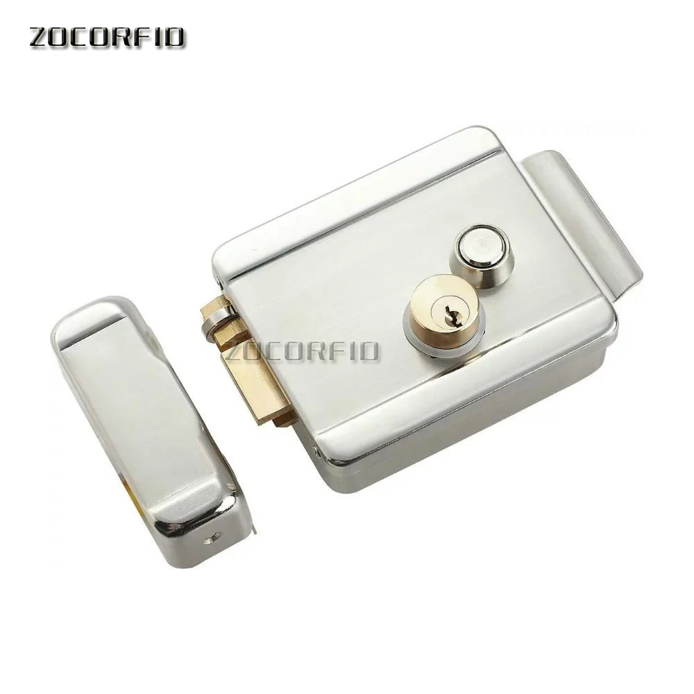Electric Control Lock Electronic Magnetic Door Lock For 12V DC Access Control System with double lock key