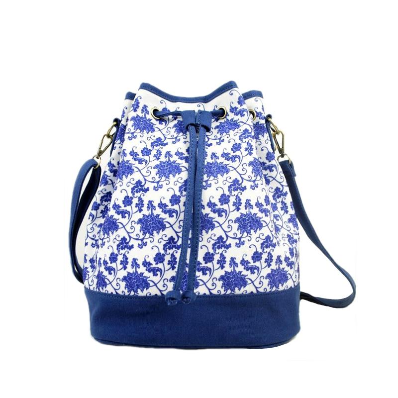 Homeda Canvas National Women Backpack Fashion Casual Bucket Bag With Drawstring Mochila Feminina Y0304