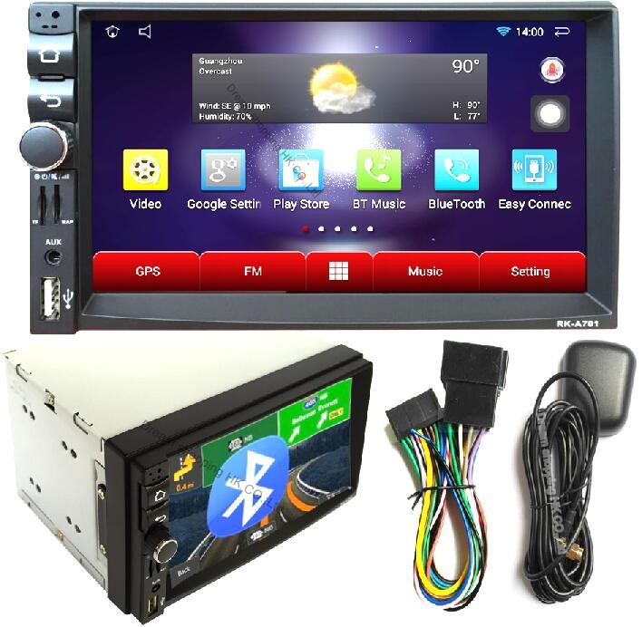 Car Electronic autoradio 2 din android 4.4 car radio stereo GPS Navigation WIFI+Bluetooth+Radio+MP3 Audio Player Car PC video