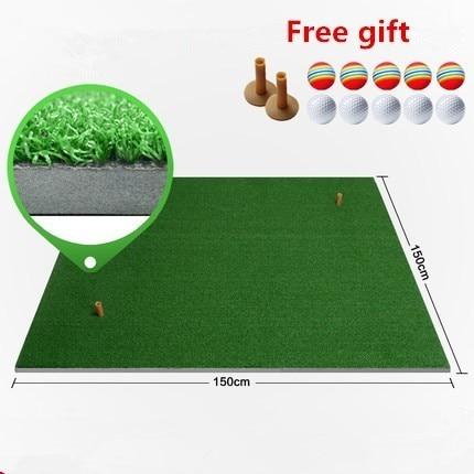 цена на 150*150cm Backyard Golf Mat Indoor Golf Practice Hitting Pad Artificial grass Mini blanket Golf putting greens with tee and ball