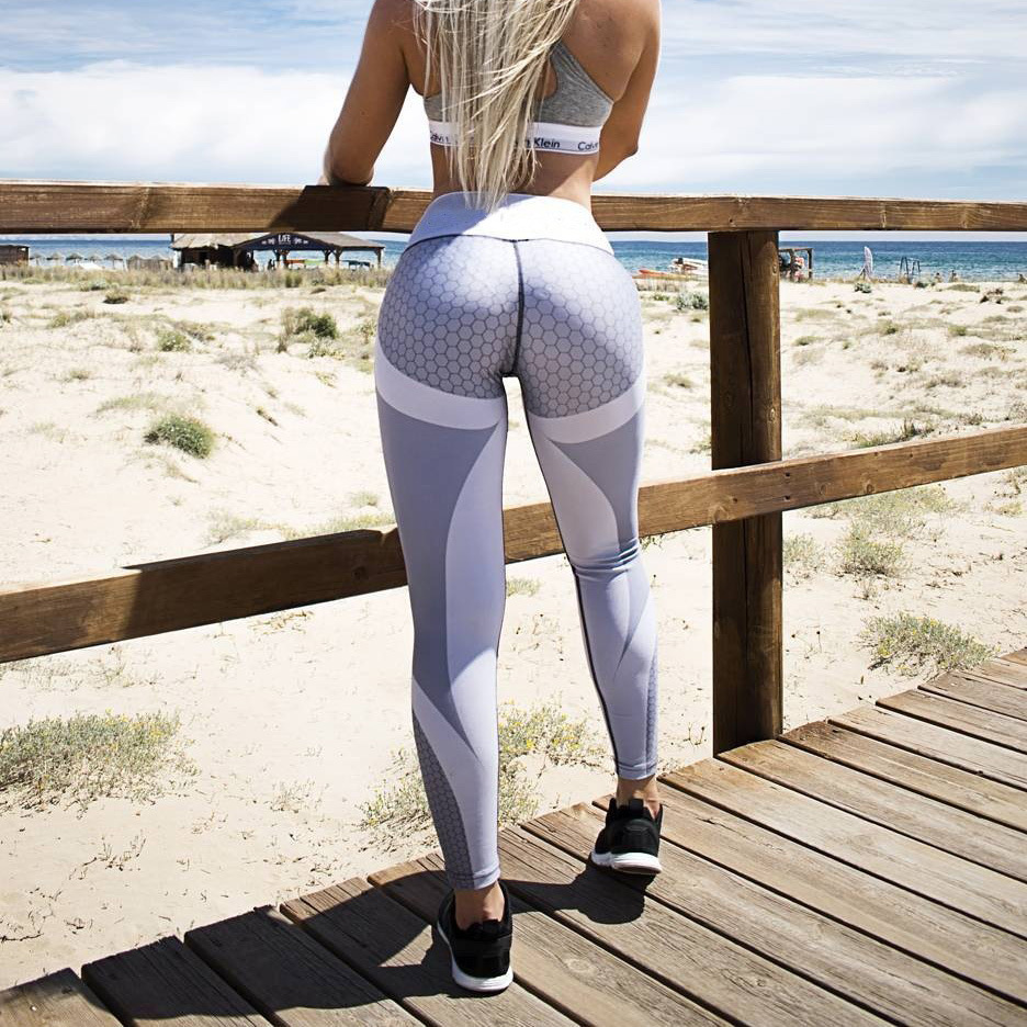 Sexy Yoga Pants Women Fitness Tights Workout Gym Running Bottom Slim -7700