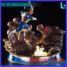 FÃS MODELO IN-STOCK DRAGON BALL 46 CM Son Gohan Vegeta VS macacos Grandes forma gk resina estátua figura toy para coleção(China)