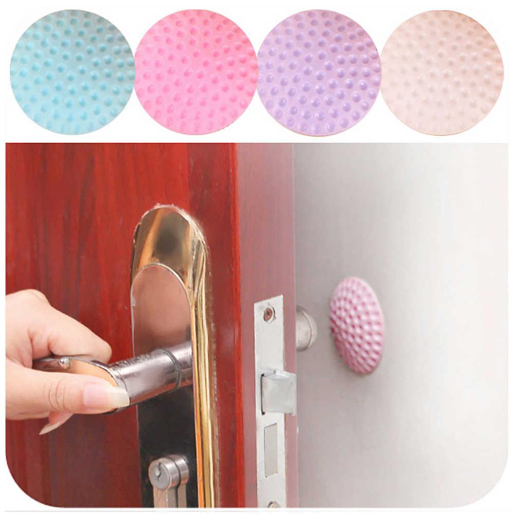 Drill Free Wall Thickening Mute Door Stick Golf Styling Rubber Fender Handle Door Lock Protective Pad Home Wall Door Knob Mats