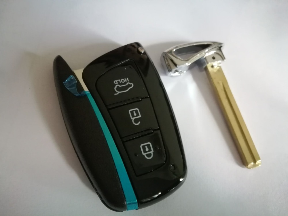 10X 3 Buttons High Quality Smart Key Case For Hyundai Genesis 2013 2015 Santa Fe Equus