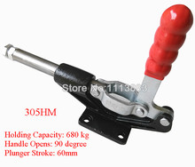 Toggle Clamp 305HM Pull Push Type Holding Force 680KG 1499LBS destaco 1 pk hold down clamp 680kg holding capacity 60mm 305 hm stainless steel