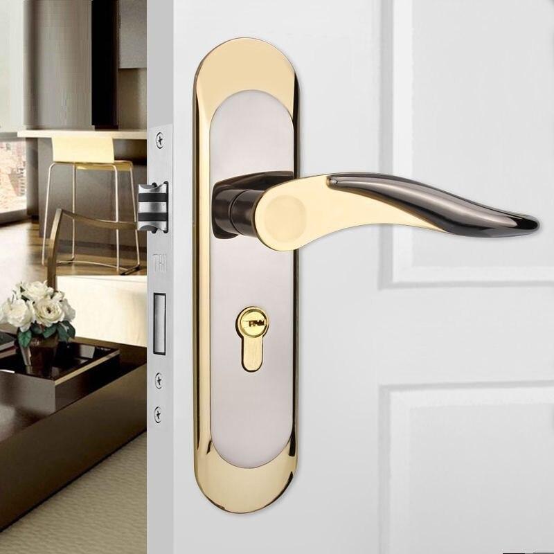 zinc alloy Door Lock Split lock door knobs for interior Door locks mute Anti-theft bedroom DOOR Lock for room door handles