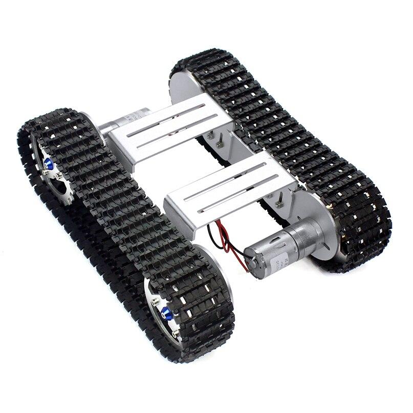 Feichao DIY Smart Shock   ดูดซับแชสซี Crawler ฐานเข็มขัด Crawler สำหรับ RC ถังหุ่นยนต์รถ A 04-ใน ชิ้นส่วนและอุปกรณ์เสริม จาก ของเล่นและงานอดิเรก บน   3
